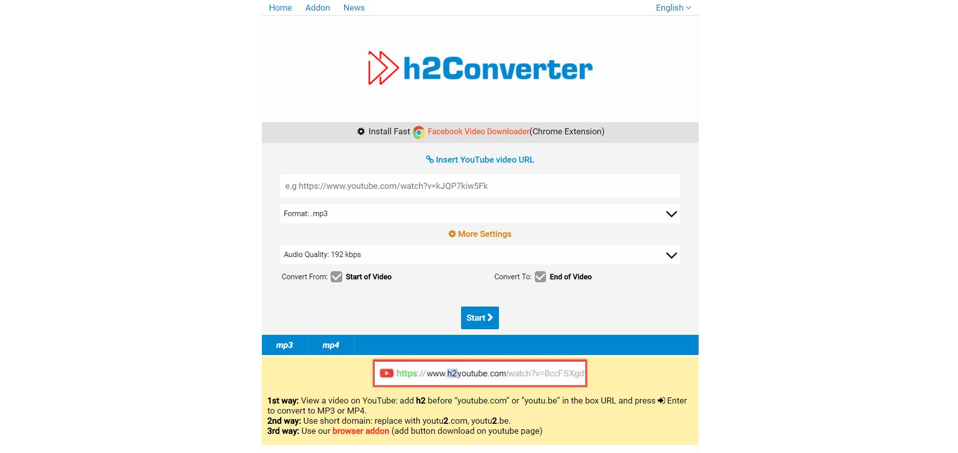 h2converter Review - converterix - YouTube MP3 Converter